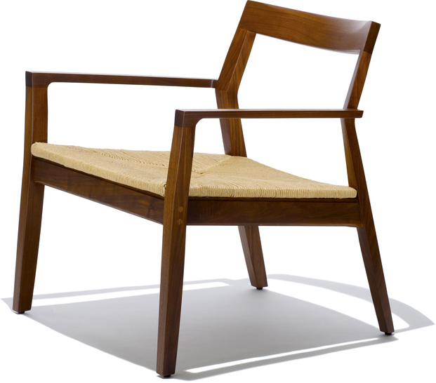 krusin lounge arm chair with woven seat