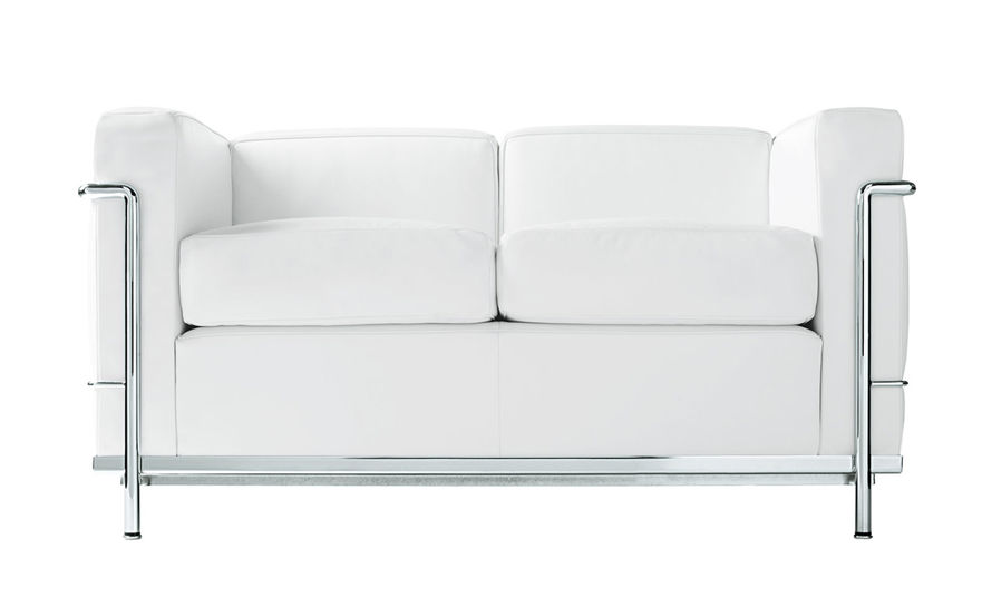 le corbusier lc2 two seat sofa with down cushions