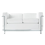 le corbusier lc2 two seat sofa with down cushions  -