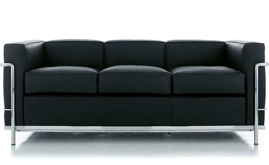 le corbusier lc2 3 seat sofa with down cushions