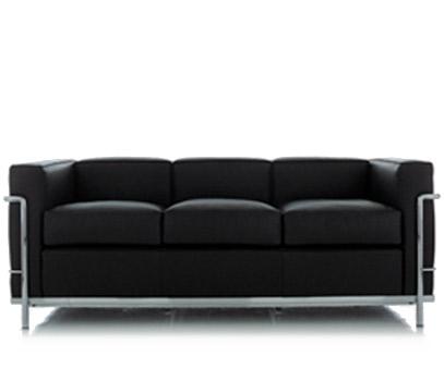 le corbusier lc2 3 seat sofa hivemodern
