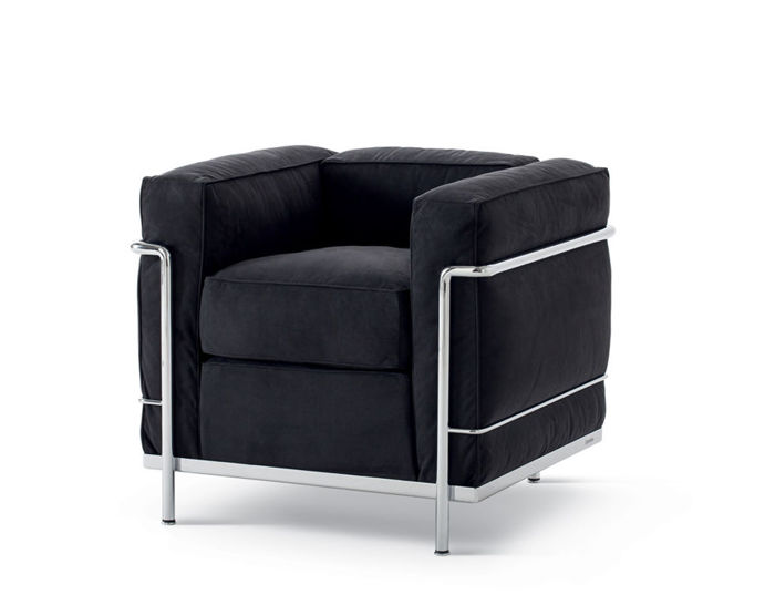 le corbusier lc2 armchair with down cushions. Black Bedroom Furniture Sets. Home Design Ideas