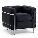 le corbusier lc2 armchair with down cushions  -