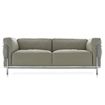 le corbusier lc3 two seat sofa with down cushions  -