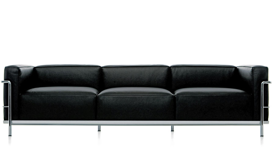 Le corbusier lc3 three seat sofa for Le corbusier sofa