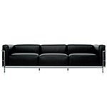 le corbusier lc3 three seat sofa with down cushions  -