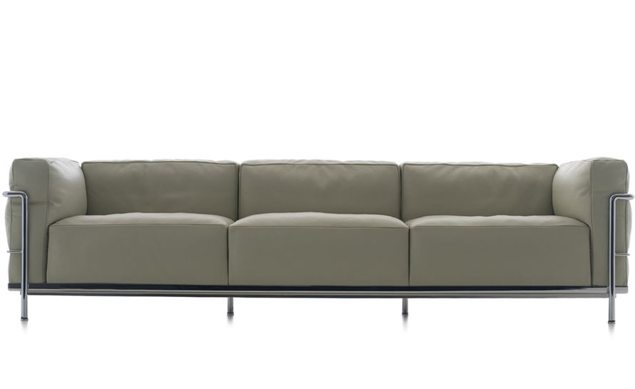 Le Corbusier Lc3 Three Seat Sofa With Down Cushions