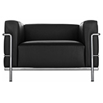 le corbusier lc3 armchair with down cushions - Corbusier - cassina