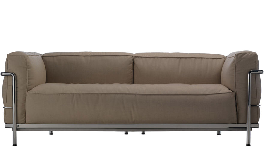 Le Corbusier Lc3 Outdoor Two Seat Sofa