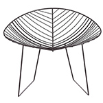 leaf lounge chair with sled base  -