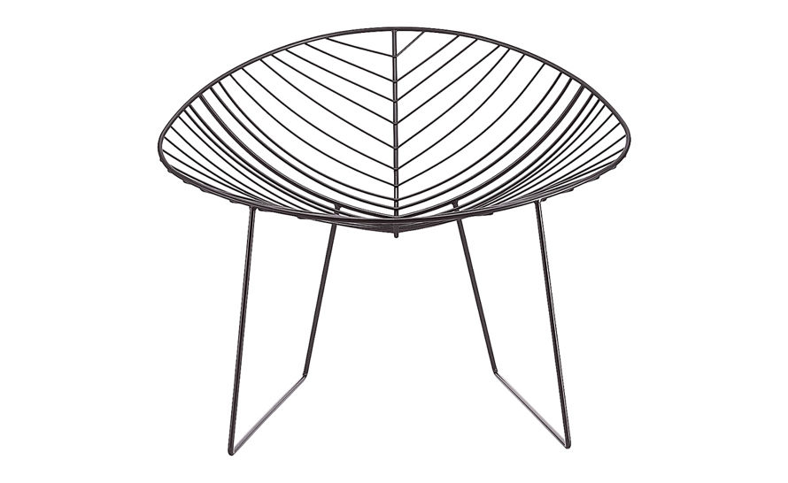 leaf lounge chair with sled base