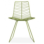 leaf side chair with sled base  -
