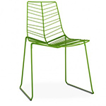 leaf stacking chair with sled base  -
