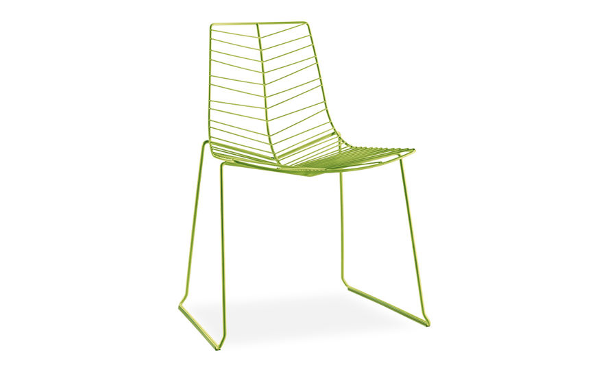 leaf stacking chair with sled base