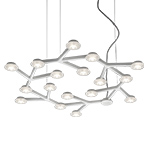 led net circle suspension lamp  - Artemide
