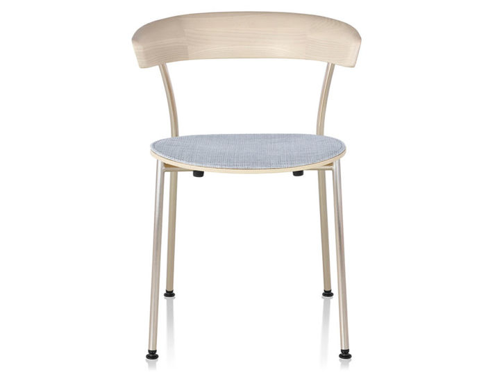 leeway™ metal side chair with upholstered seat