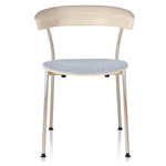leeway metal side chair with upholstered seat  - Herman Miller