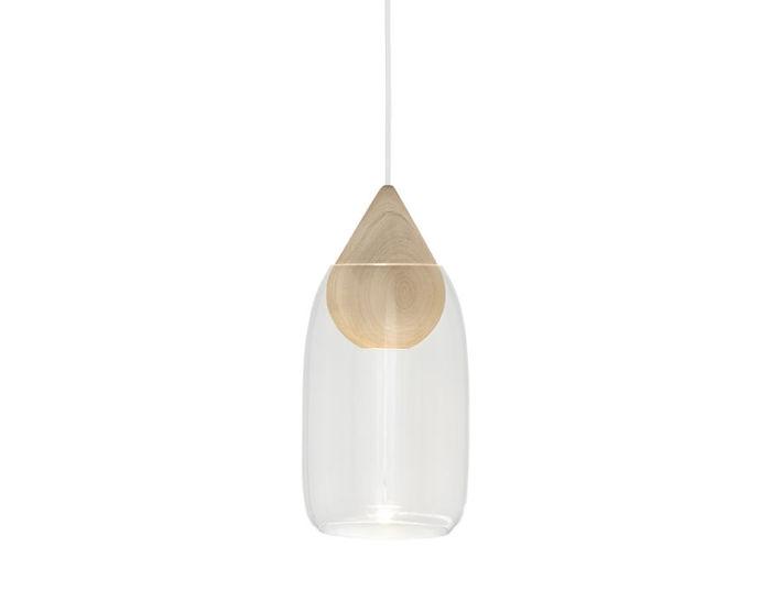 liuku drop pendant light with glass shade