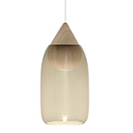 liuku drop pendant light with glass shade  -