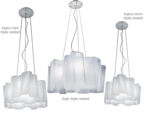 Logico Triple Nested Suspension Lamp Hivemodern Com