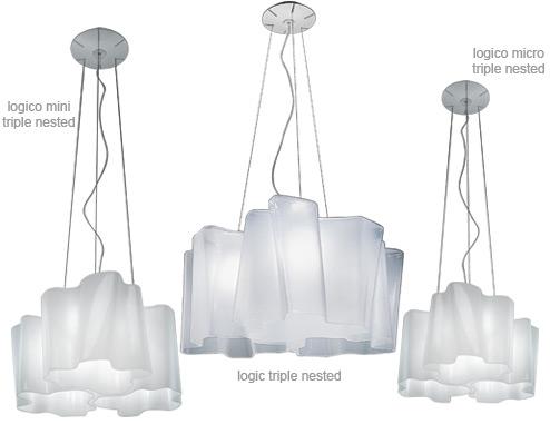 logico lighting. Logico Triple Nested Suspension Lamp Logico Lighting