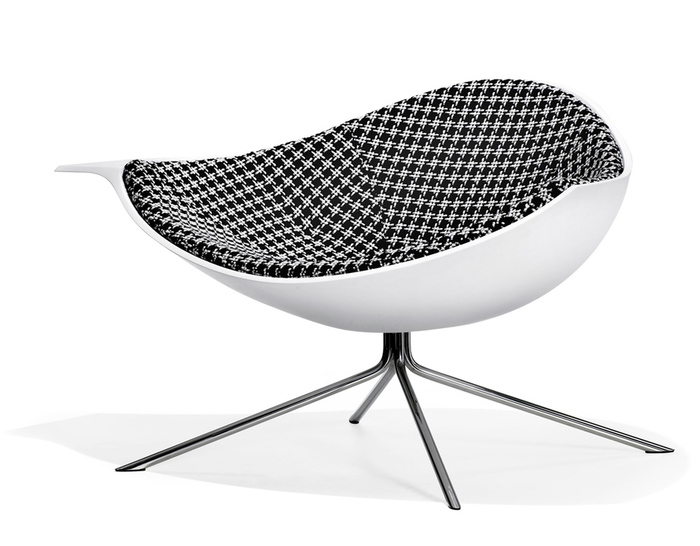 low lotus chair - inside upholstered