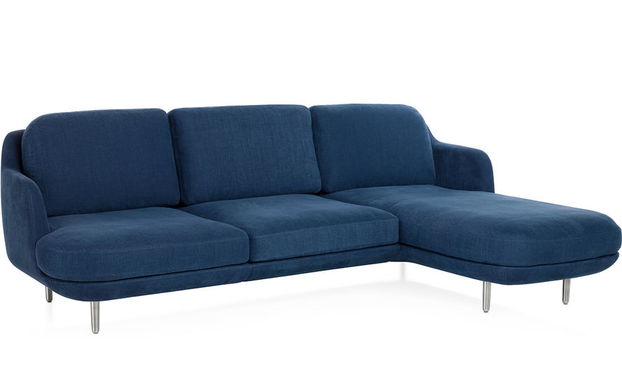 Lune 3 seat sofa with chaise for Chaise demi lune