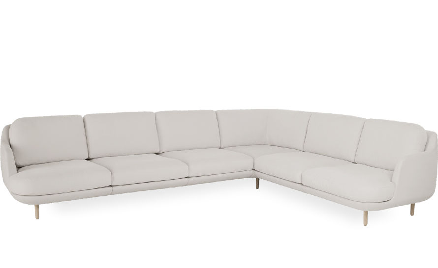 lune 6 seat sofa with corner