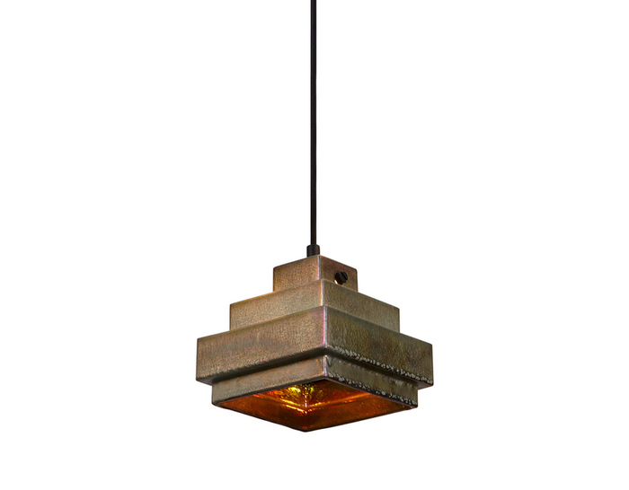 lustre square pendant light