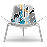 maharam shell chair - Hans Wegner - Carl Hansen & Son