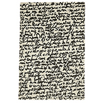 black and white collection manuscrit rug  -