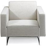 mare lounge chair with fixed cushions  -