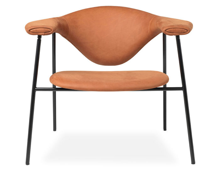 masculo lounge chair with 4 leg base