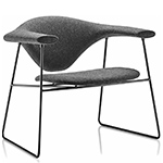 masculo lounge chair with sled base  -