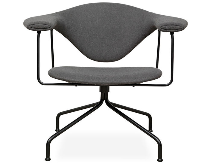 masculo swivel base lounge chair