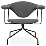 masculo swivel base lounge chair  - gubi
