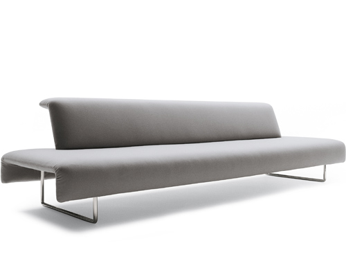 two seat cloud sofa with backrest