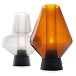 metal glass table lamp  - foscarini