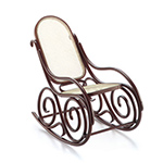 miniature thonet rocking chair no. 9  -
