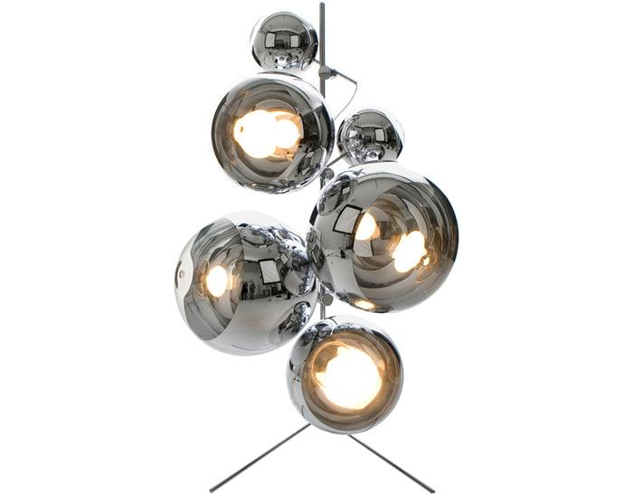 mirror ball tripod floor lamp