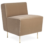modern line dining height lounge chair - greta grossman - gubi