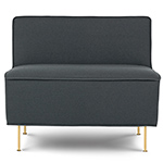 modern line low lounge chair  -