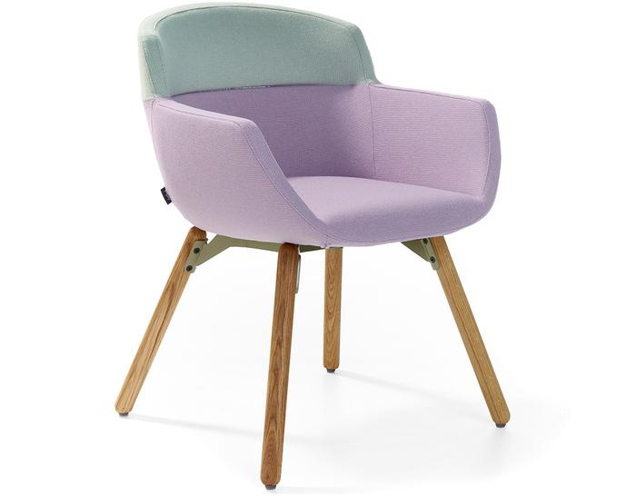 mood 4 leg wood frame chair