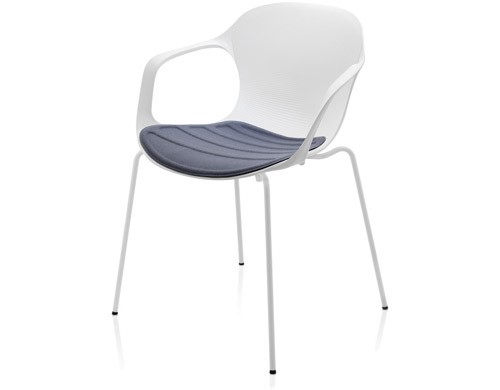 Nap Armchair With Upholstered Seat Cushion From Fritz Hansen