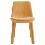 neat leather dining chair  - blu dot