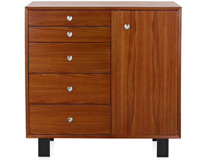 nelson basic cabinet 5 drawers with door