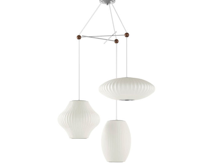 nelson™ triple bubble lamp fixture