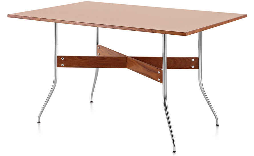 nelson swag leg rectangular dining table