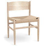 nestor side chair with paper cord seat  - mater