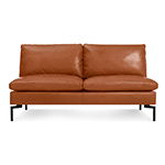 new standard armless leather sofa  - blu dot